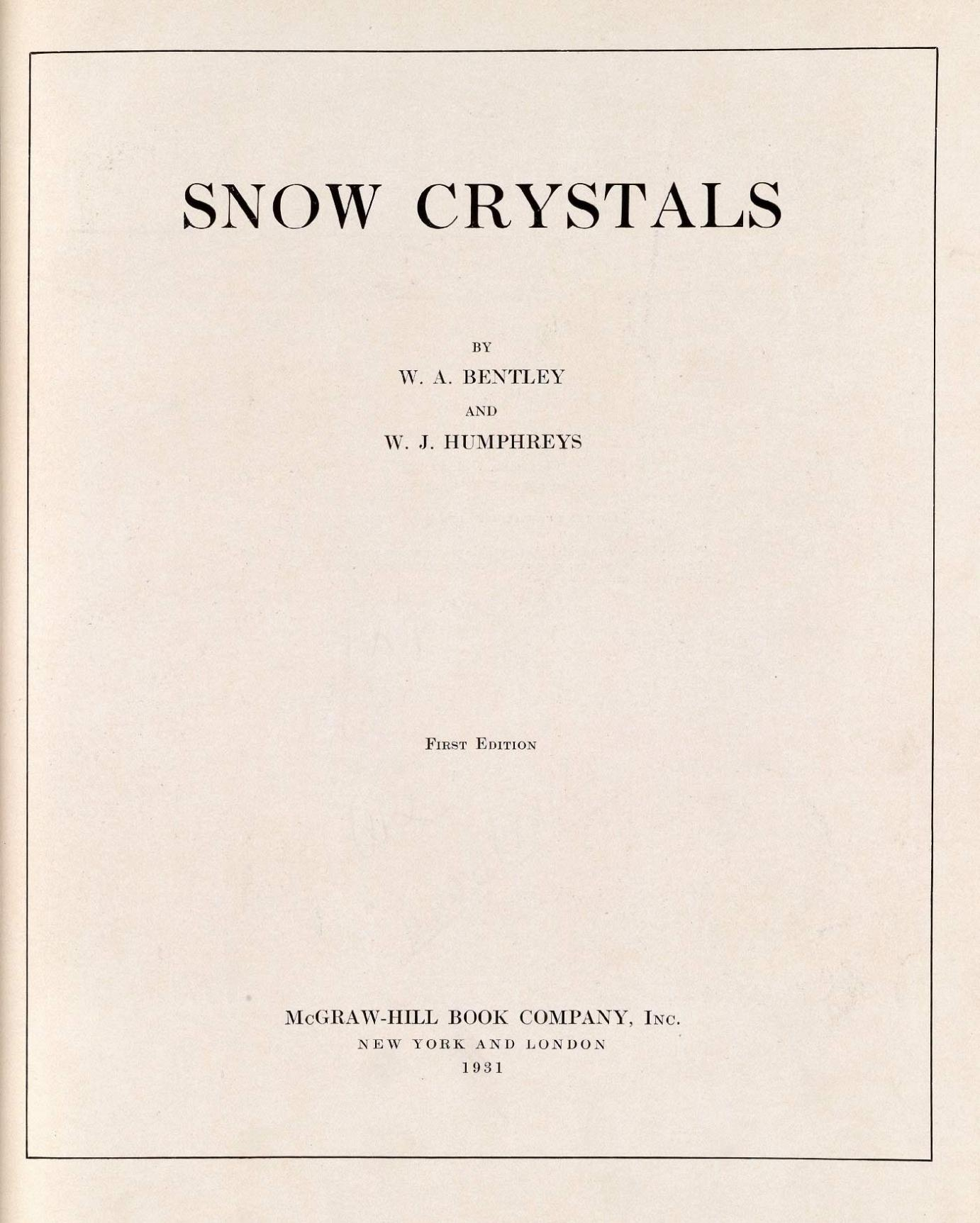 title page wilson a bentley snow crystals new title page