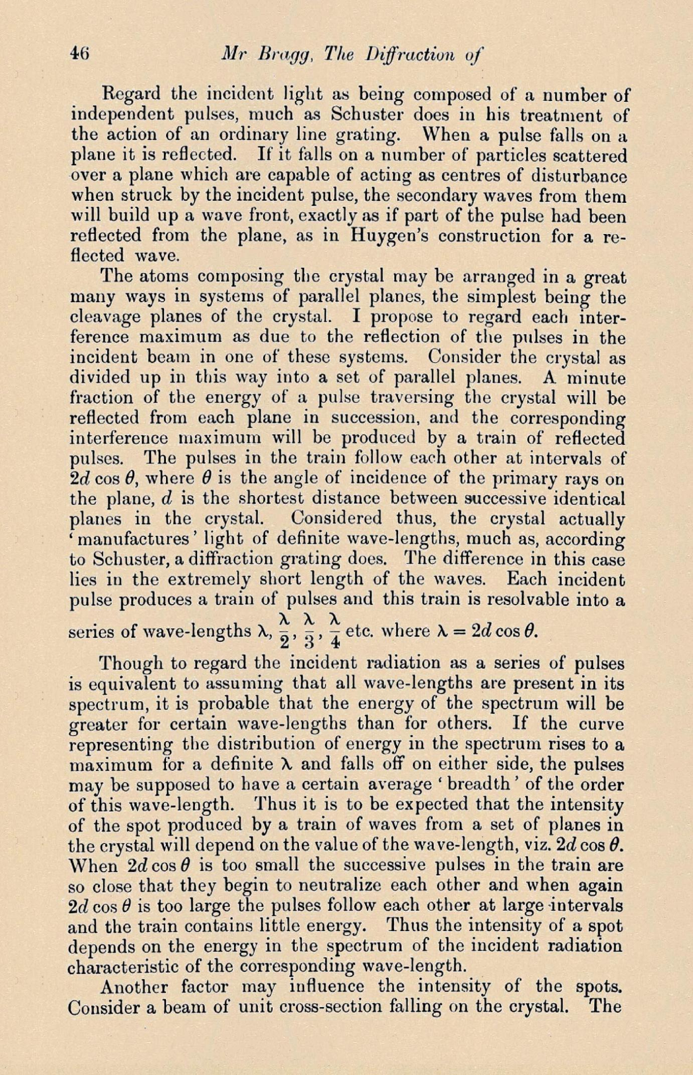 Page 46 from WILLIAM L. GG (1890 - 1971). The Diffraction of ...